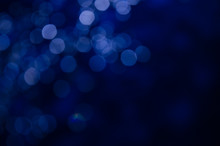 Abstract Pattern Of Blue Bokeh...