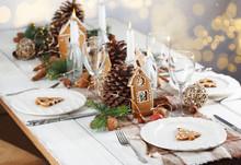 Christmas Table Setting. Holid...