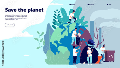 Ecology landing page Canvas