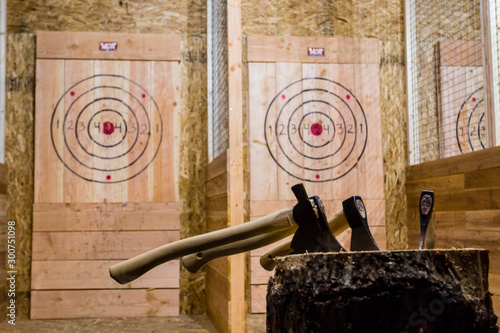 Axe throwing Canvas Print