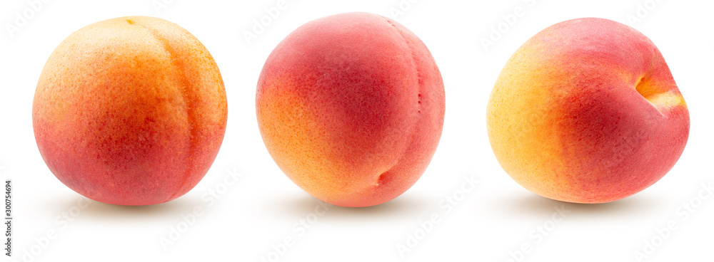 Fototapety, obrazy: collection of peaches isolated on a white background