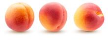 Collection Of Peaches Isolated On A White Background