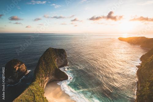 Obraz sunset over ocean - fototapety do salonu