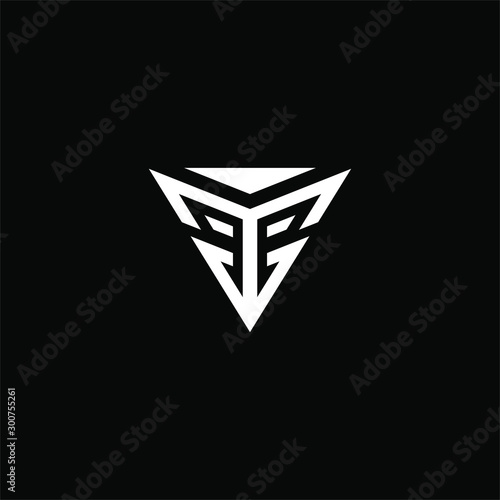 Fototapeta Initial letter T or Y V logo template with modern triangle keystone flat design