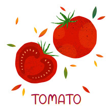 Isolated Tomatoes: Whole Tomat...