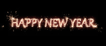 Happy New Year Banner. Text Ha...
