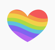 Rainbow Heart Icon.