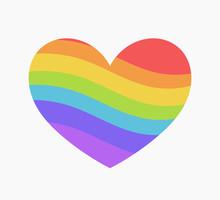 Rainbow Heart Icon.
