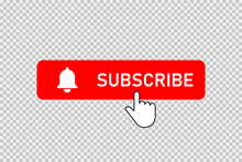 Subscribe Red Button With Bell...