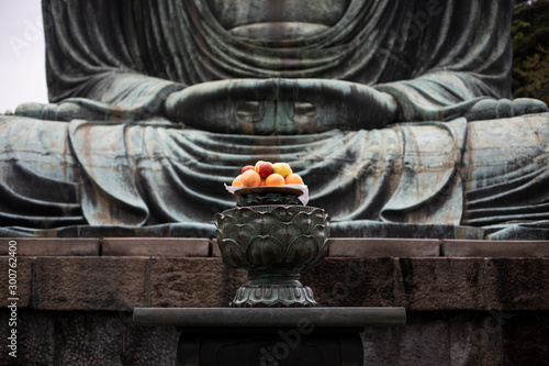 Foto op Canvas Historisch mon. Fruit offerings to the Buddha of Kamakura, Japan