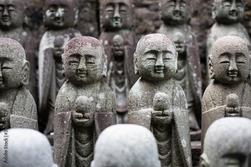 Foto op Canvas Historisch mon. Small Buddha statues in a Tokyo temple, Japan