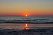 canvas print picture - Sonnenuntergang auf den Vesteralen bei Bleik