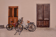 Bicycle In Front Of Old House ...