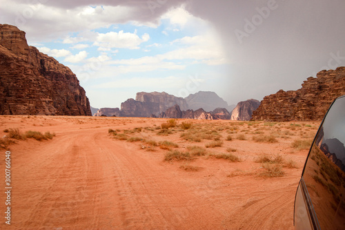 Canvas Prints Coral Spectacularly scenic desert landscape of Wadi Rum, Jordan