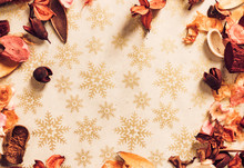 Christmas-themed Background Wi...