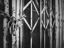 Old Metal Fencing On Storefront