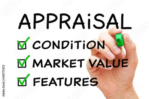 Photo Appraisal Checklist Business Concept