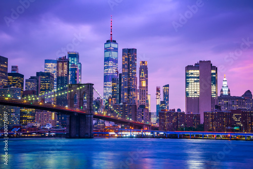 Photo New York, United States - Brooklyn Bridge and Manhattan