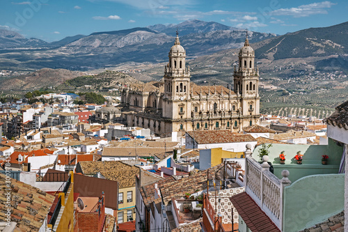 Panoramic view of Jaen, Spain