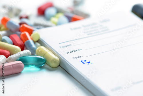 Prescription Pad And Medications Canvas Print