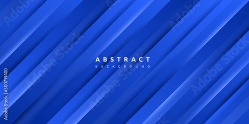 Foto auf Leinwand Dunkelblau Abstract minimal blue texture background, Dynamic geometric blue stripe for cover, banner, wallpaper