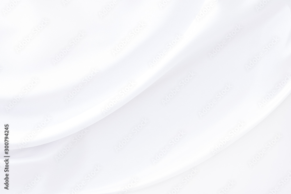 Fototapety, obrazy: Background satin fabric white gray textures luxurious shiny that is abstract silver silk cloth  with patterns soft wave blur silky beautiful.