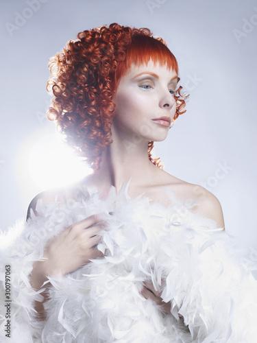 Autocollant pour porte womenART Angelic woman
