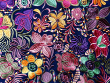 Close Up Of сolorful Embroide...
