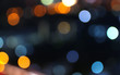canvas print picture - abstract bokeh lights on background