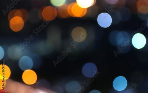Obraz Abstract bokeh lights defocused on black background - fototapety do salonu