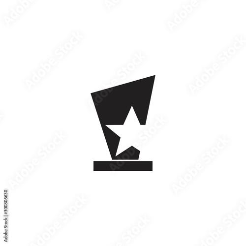 trophy icon vector illustration design template Canvas Print