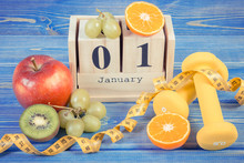 Cube Calendar, Fruits, Dumbbel...