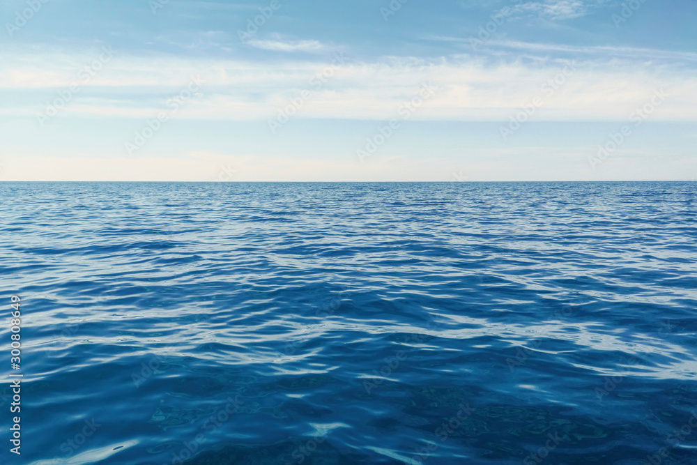 Fototapety, obrazy: Blue Ocean, Water Surface and Blue Sky