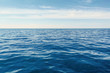 Blue Ocean, Water Surface and Blue Sky