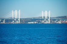 The Tappan Zee Bridge, Also Known As The Mario M. Cuomo Bridge, Crossing The Hudson River Between Tarrytown And Nyack. Both Are Cities Of New York State, USA -05