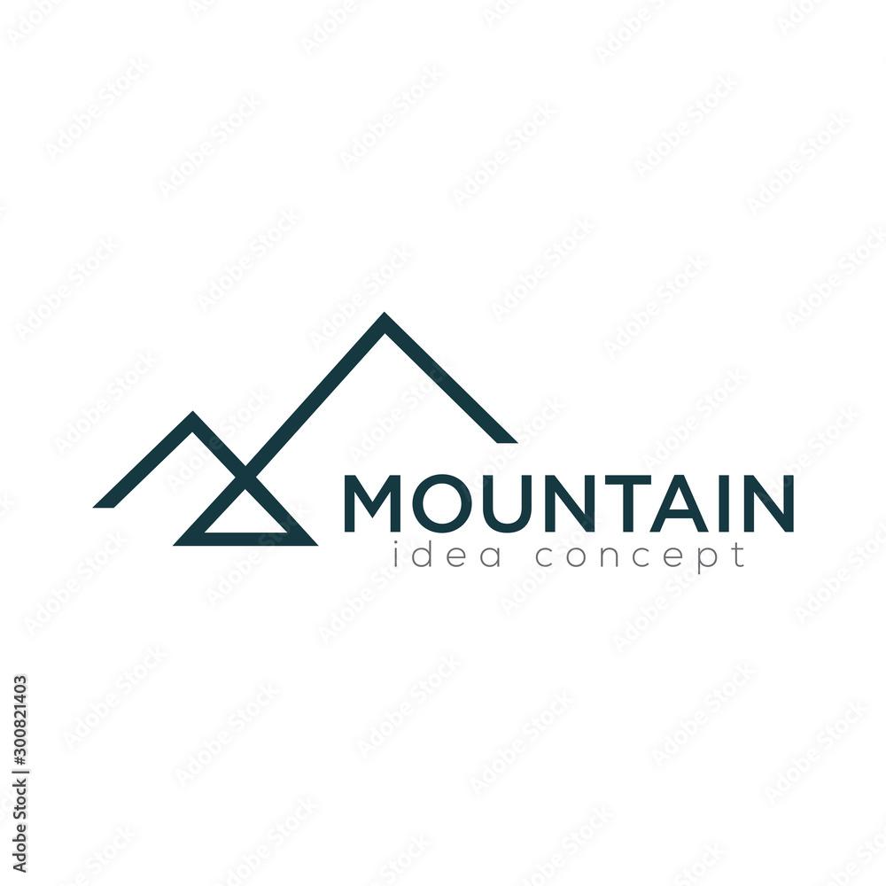 Fototapety, obrazy: Mountain Logo Design Template