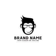 Monkey Logo Design Vector Temp...