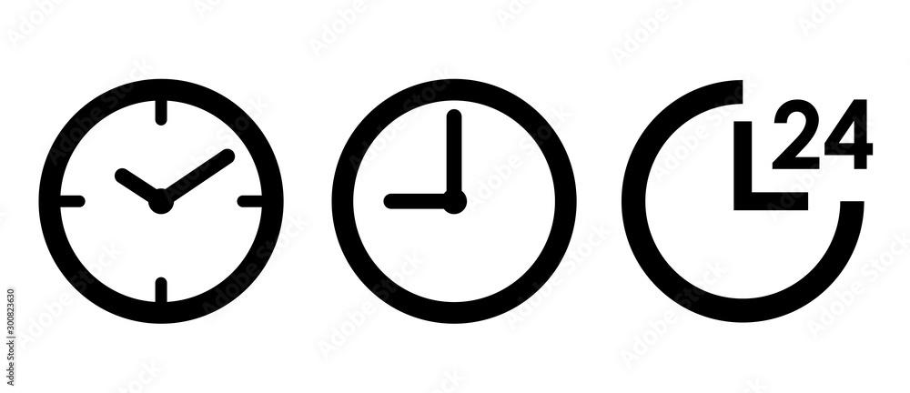 Fototapeta 時計 24時間 アイコンセット