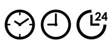 時計 24時間 アイコン