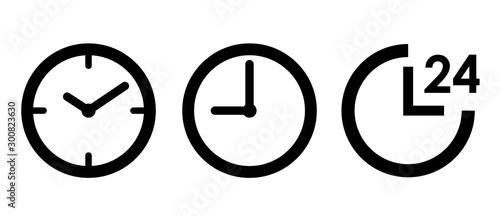 Obraz 時計 24時間 アイコンセット  - fototapety do salonu