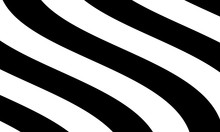 Black White Zebra Skin Pattern. Flat Style Illustrations Suitable For Backgrounds And Wallpapers