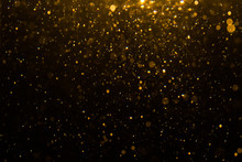 Abstract Gold Bokeh With Black