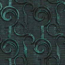 Copper Seamless Texture With Swirls Pattern On A Oxide Metallic Background, 3d Illustration