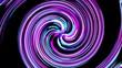 Hypnotic neon swirl