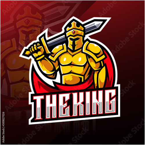 Valokuva The King esport mascot logo design