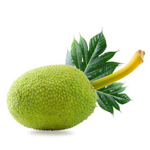 Fresh Breadfruit Isolated On A...