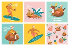 Christmas Seamless Set Of Card...