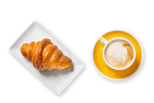 Cup Of Coffee And Croissants I...