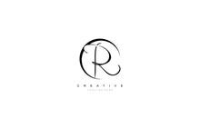 R Letter Stylized Circle Shape Signature Monogram Elegant Logotype