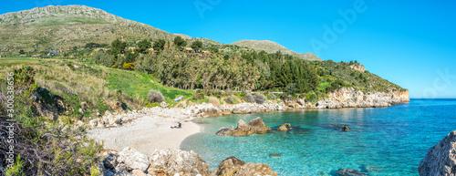 Recess Fitting Mediterranean Europe Cala Mazzo di Sciacca in the Riserva dello Zingaro in Western Sicily, Italy